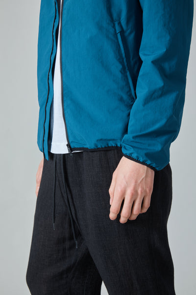 PLASTER HOODED JACKET - TEAL