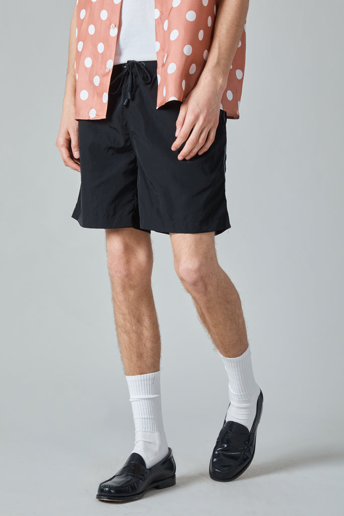 SWIMMER SHORTS - BLACK/IRIDESCENT STRIPE