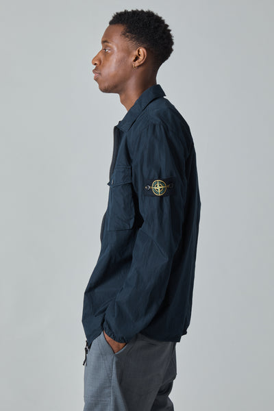 13108 COTTON NYLON POPLIN OVERSHIRT - NAVY