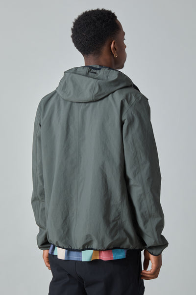 PLASTER HOODED JACKET - OLIVE