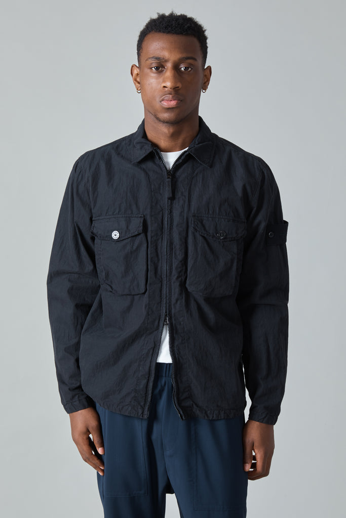 103F2 GHOST OVERSHIRT - BLACK