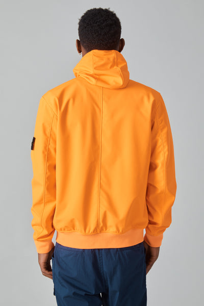 43427 LIGHT SOFT SHELL-R HOODED JACKET - ARANCIO FLUO