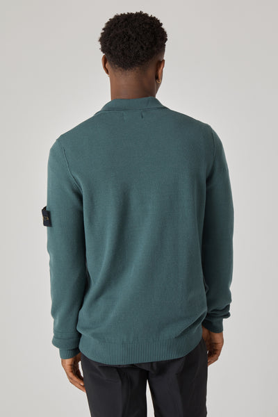 589A1 STRETCH WOOL KNIT POLO - PETROL
