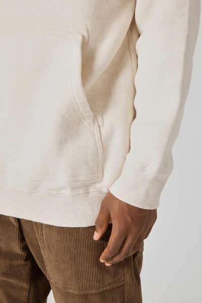 Cotton Lyocell Double Brushed Jersey Oversized Hoody - Oatmeal