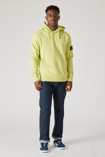 62820 COTTON FLEECE GARMENT DYED HOODY - PISTACHIO