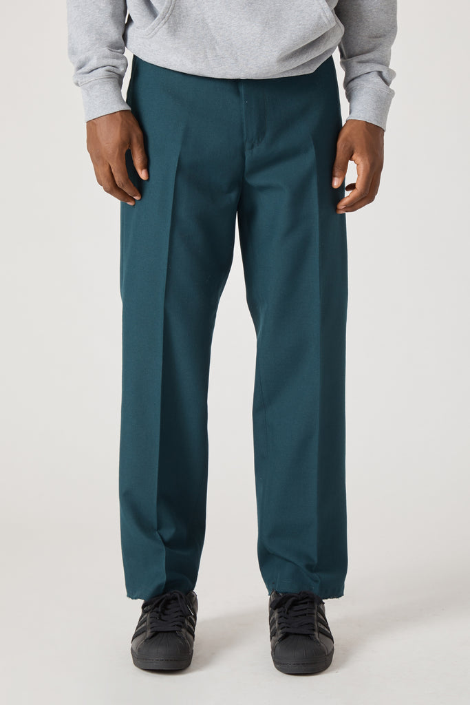 DICKENS EASY IRON WOOL TROUSER - PETROL