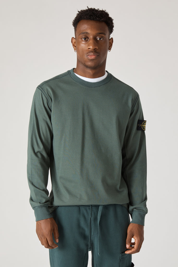 62350 HEAVY GAUGE COTTON CREWNECK SWEATSHIRT - PETROL