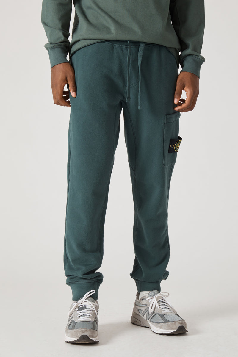 60320 Cotton Fleece Garment Dyed Sweatpants - Petrol