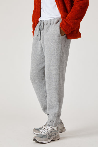 COTTON LYOCELL DOUBLE BRUSHED JERSEY SWEAT PANTS - GRAY