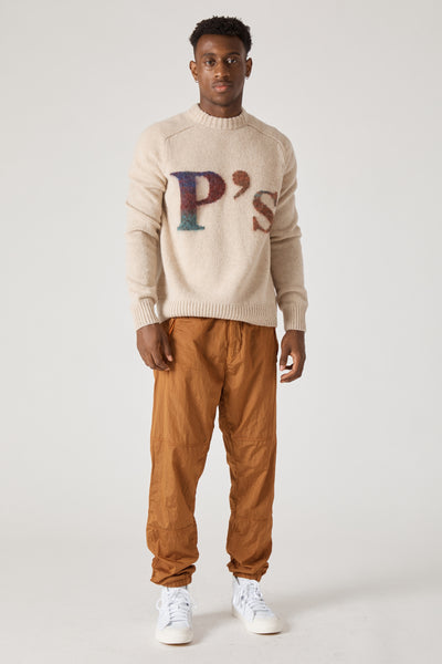 INTARSIO P'S CREW SOFT SHETLAND WOOL - NATURAL MULTI