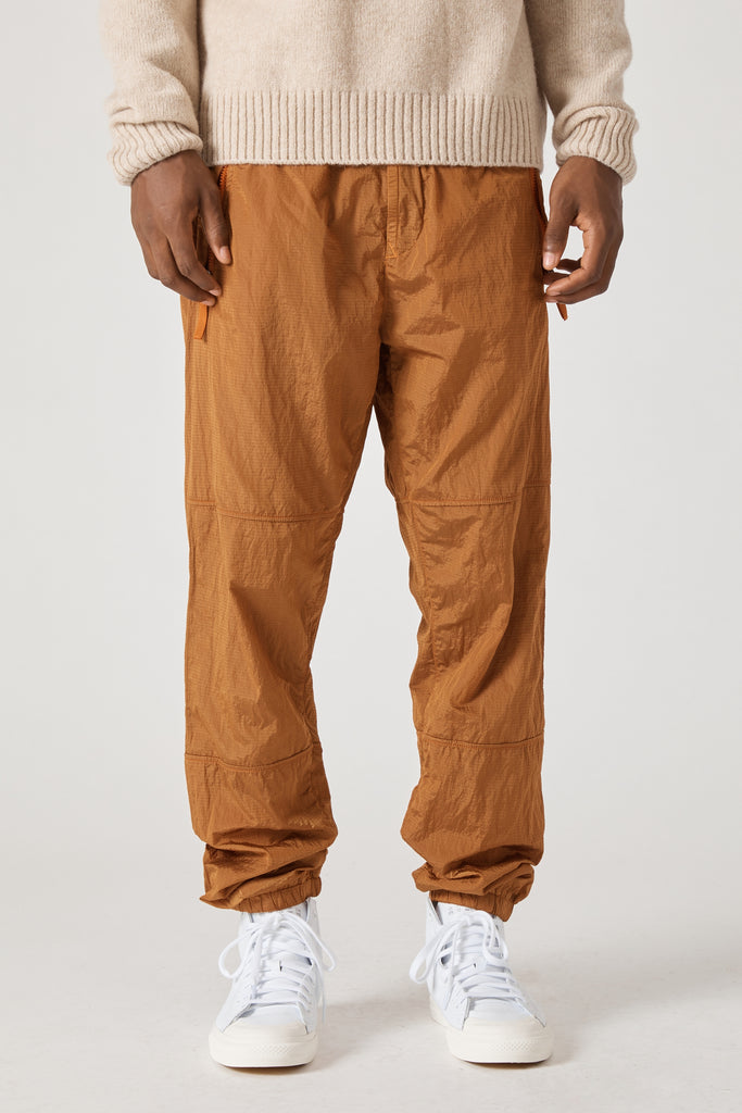 30536 NYLON METAL RIPSTOP TRACK PANTS - ORANGE