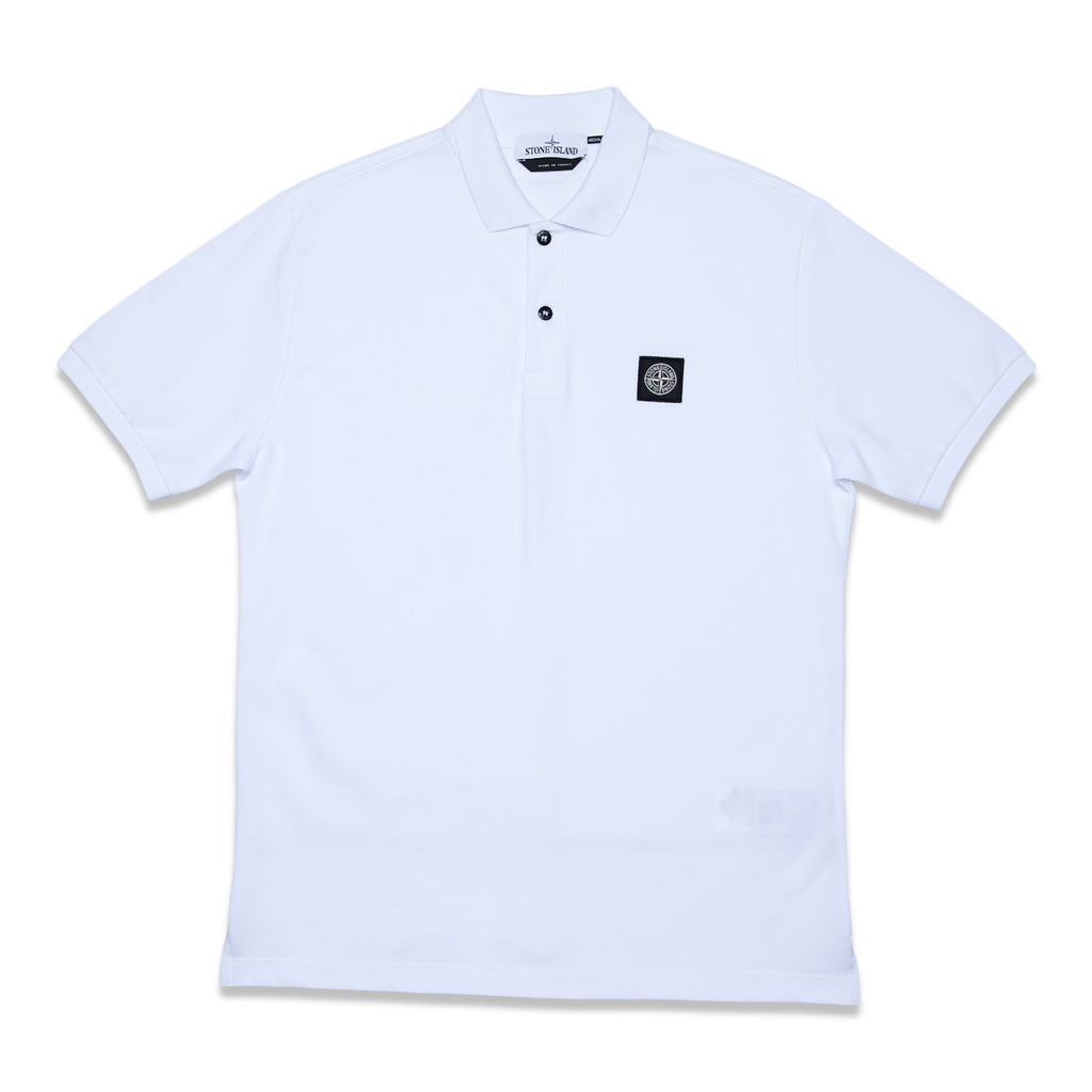 22R39 50/2 Cotton Pique Polo Shirt - White