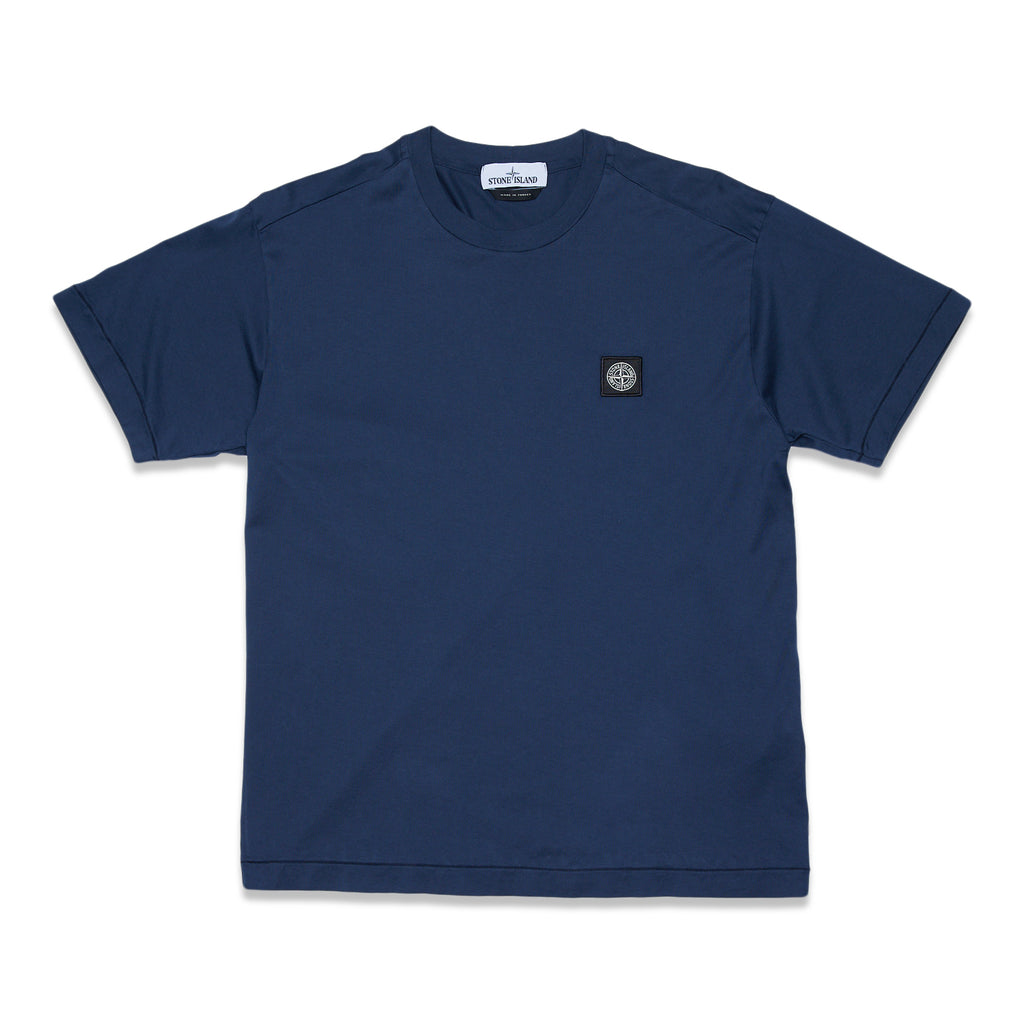 24113 60/2 COTTON JERSEY GARMENT DYE T-SHIRT - BLUE MARINE