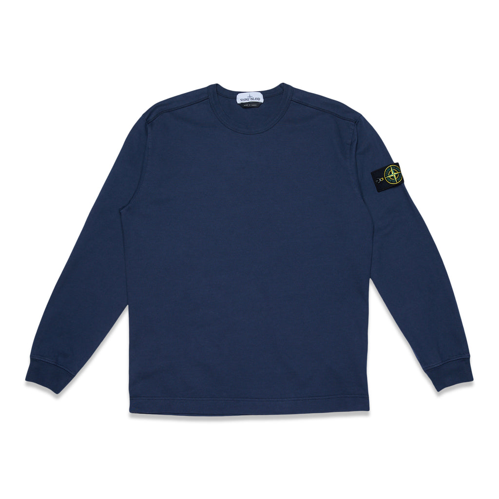 64450 Heavy Cotton Jersey Garment Dyed Sweatshirt - Blue Marine