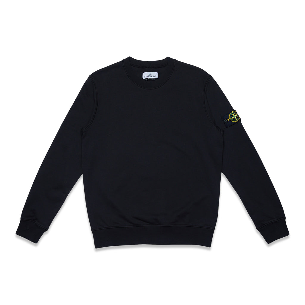 63051 COTTON FLEECE GARMENT DYED SWEATSHIRT - BLACK