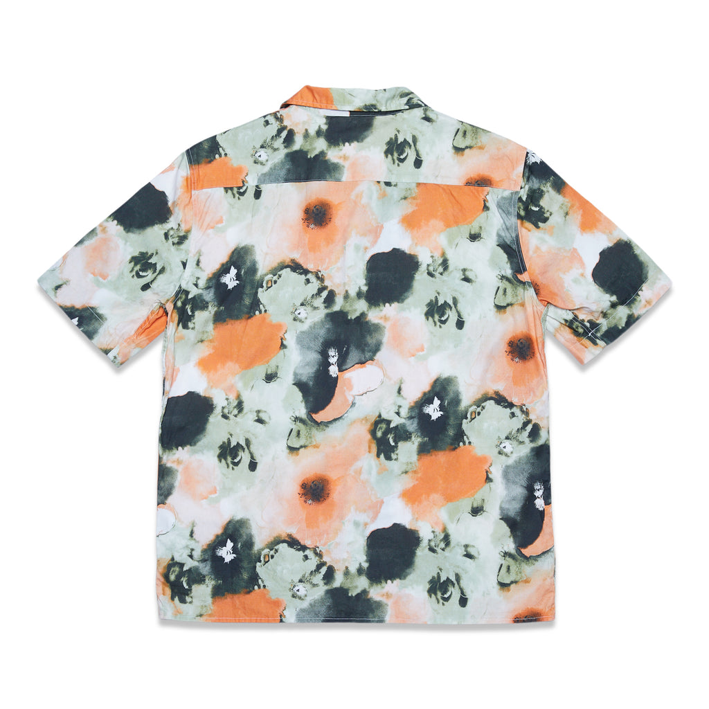 SHIRT RANGI S/S PSYCHO FLOWER POPLIN - ORANGE