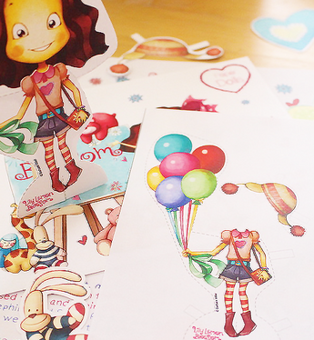 Blossom Mail with Paper Doll UP & Balloons Away Craft Kit