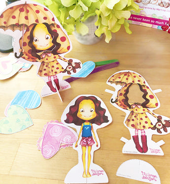 Blossom Mail with Paper Doll Hooray For The Rain Craft Kit