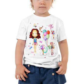 Toddler Short Sleeve Paper Doll T-Shirt