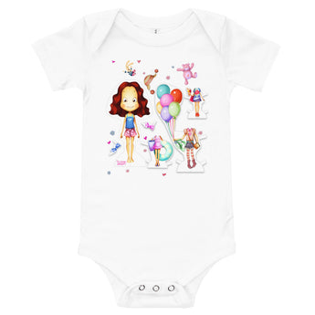 Baby Paper Doll One Piece Jumper.