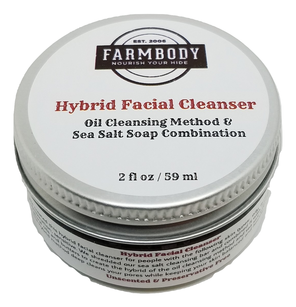 Hybrid Facial Cleanser, Oil Cleansing Method and Sea Salt Soap Combination