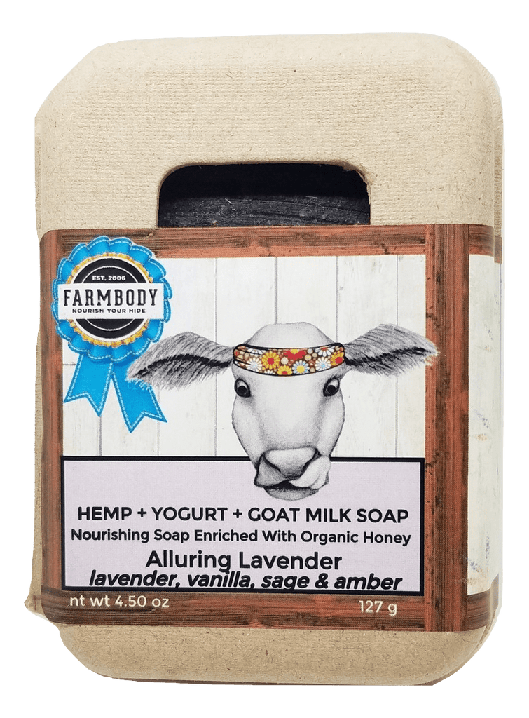 Handcrafted Hemp Soap Bars | Goat Milk, Local Honey & Yogurt - Farmbody