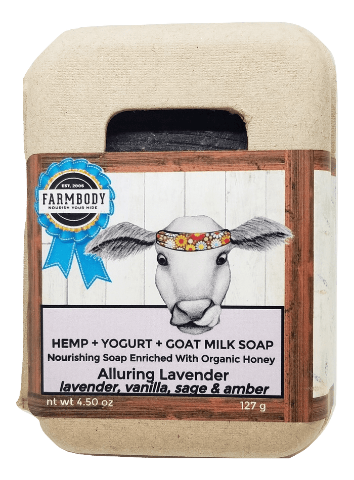 Hemp Yogurt Goat Milk Soap Enriched With Local Organic Honey Safe for all skin conditions Alluring Lavender Scent