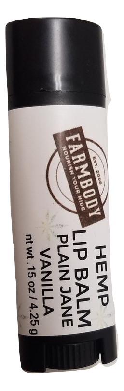 Hemp Lip Balm: Plain Jane Vanilla - Farmbody