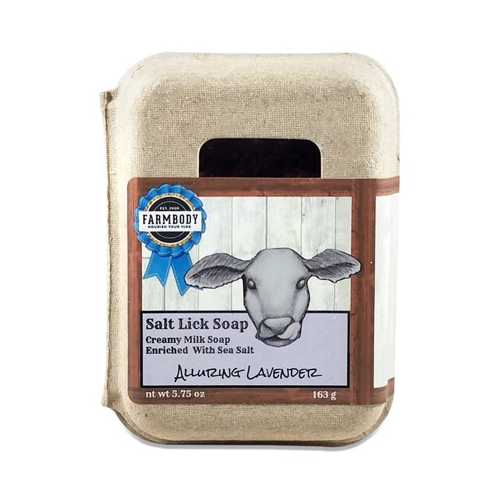 Salt Lick Soap With Sea Salt Alluring Lavender Farmbody Skin Care