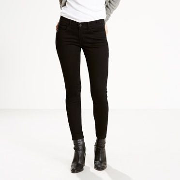 710 Black Super Skinny Jeans