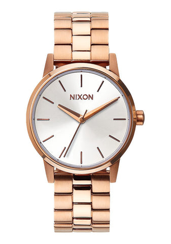 Nixon Small Kensington / Rose Gold White