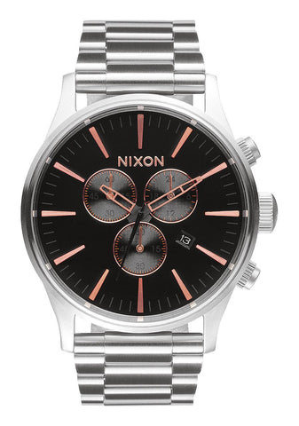 Nixon Sentry Chrono / Gray Rose Gold