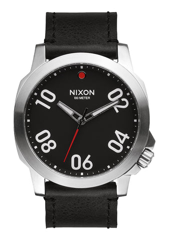 Nixon Ranger 45 Leather / Black Red
