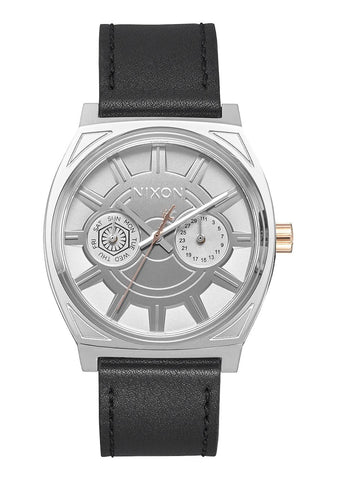 Nixon Time Teller Deluxe Leather / Phasma Black