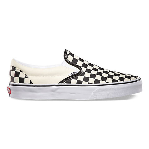 Black and White Checkerboard Slip Ons