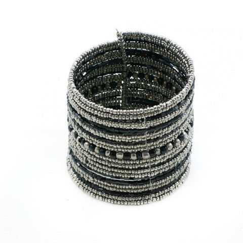 Stripey Beaded Cuff