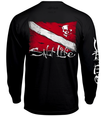 DIVE FLAG AND SKULL LS