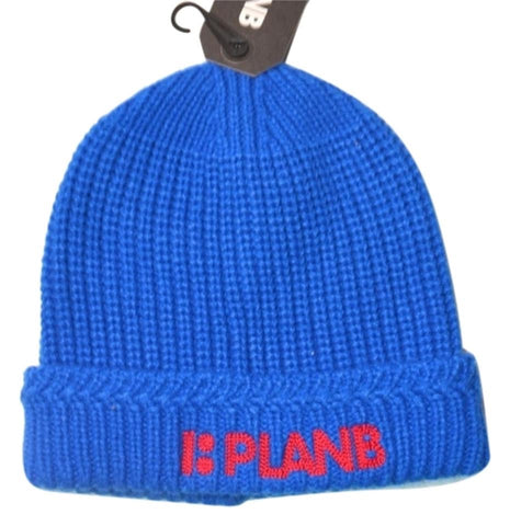 Plan B Blue and Red Stitched logo