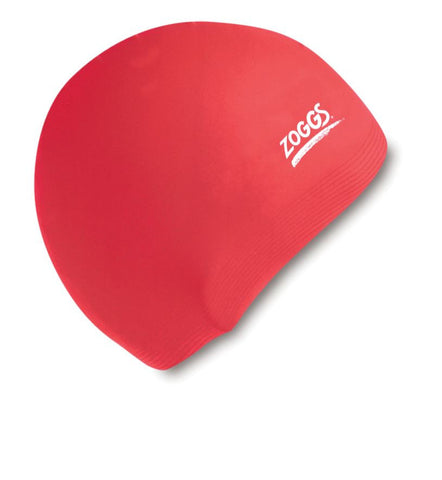 Zoggs Junior Silicone Cap Red - clickswim.com