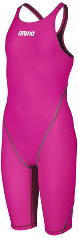 Arena Junior Powerskin ST 2.0 Full Body Short Leg Open Back Fuchsia - Clickswim.com