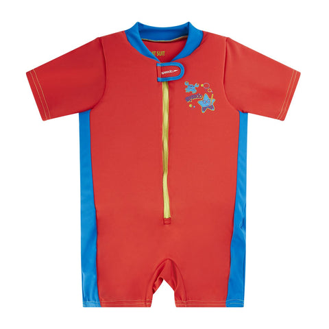 Speedo Infant Boys Sea Squad Float Suit Red / Blue - Clickswim.com