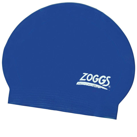 Zoggs Junior Latex Cap Blue - clickswim.com