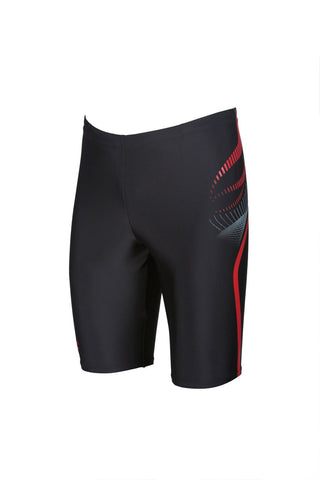 Arena True Sport Mens Flow Jammer Black/Red - Clickswim.com