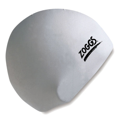 Zoggs Adult Latex Cap Grey/White - clickswim.com