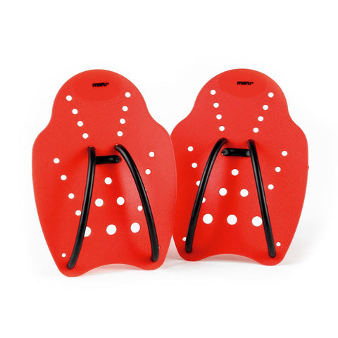 Maru Hand Paddle (Large) Red - Clickswim.com