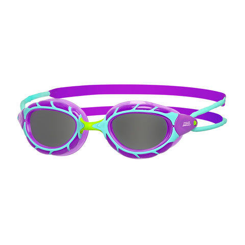 Predator Junior Junior Goggles Purple/Light Blue/Smoke - Clickswim.com