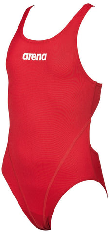 Arena True Sport Girls Solid Swim Tech Red/White - Clickswim.com