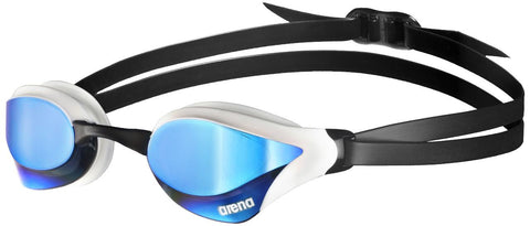 Arena Adult Racing Goggles Cobra Core Mirror Blue/White - Clickswim.com
