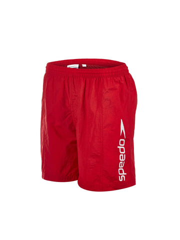 "Speedo Junior Boys Watershorts Challenge 15"" Watershort Red / White - Clickswim.com"