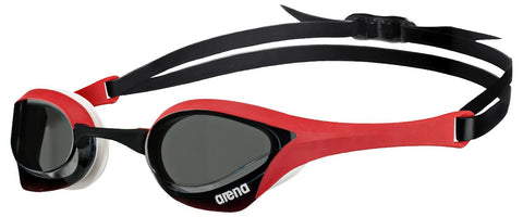 Arena Cobra Ultra Goggles Smoke/Red/White - Clickswim.com